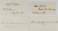 Autographs:Authors, [British Notables]. Group of Four Signatures... (Total: 4 Items)