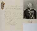 Autographs:Military Figures, Porfirio Diaz Letter Signed....
