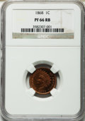 Proof Indian Cents, 1868 1C PR66 Red and Brown NGC....
