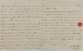 Autographs:Non-American, [Horatio Nelson]. Sir Edward Berry Autograph Letter Signed....