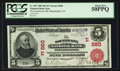 National Bank Notes:Pennsylvania, Philadelphia, PA - $5 1902 Red Seal Fr. 587 The Southwark NB Ch. #(E)560. ...