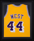Basketball Collectibles:Uniforms, Jerry West Signed Jersey....