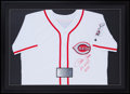 "Baseball Collectibles:Uniforms, Pete Rose ""Hit King 4256"" Signed Cincinnati Reds Jersey...."