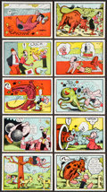 "Non-Sport Cards:Sets, 1959 Ad-Trix ""Popeye"" Partial Set (34). ..."