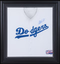 Baseball Collectibles:Uniforms, Magic Johnson Signed Los Angeles Dodgers Jersey....