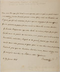 Autographs:Non-American, Queen Maria Carolina of Naples and Sicily Autograph LetterSigned....
