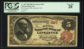 National Bank Notes:Pennsylvania, Lancaster, PA - $5 1882 Brown Back Fr. 467 The Farmers NB Ch. #597. ...