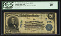National Bank Notes:Pennsylvania, Phoenixville, PA - $20 1902 Plain Back Fr. 650 The NB ofPhoenixville Ch. # (E)674. ...