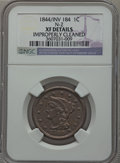 Large Cents, 1844 1C Over Inverted 184, N-2, R.2 -- Improperly Cleaned -- NGCDetails. XF. NGC Census: (1/20). PCGS Population (5/24). M...