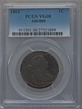 Large Cents: , 1803 1C 100/000 VG8 PCGS. PCGS Population (1/28). NGC Census:(0/0). Numismedia Wsl. Price for problem free NGC/PCGS coin ...