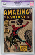 Silver Age (1956-1969):Superhero, Amazing Fantasy #15 (Marvel, 1962) CGC Apparent GD/VG 3.0 Slight(A) Cream to off-white pages....