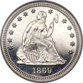 Proof Seated Quarters, 1869 25C PR67 NGC....