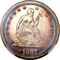 Proof Seated Quarters, 1887 25C PR67 Cameo NGC....