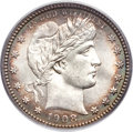 Barber Quarters, 1908-S 25C MS65 PCGS....