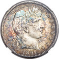 Barber Quarters, 1897-S 25C MS65 NGC....
