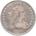 Early Dollars, 1797 $1 10x6 Stars, Large Letters VF20 PCGS. B-3, BB-71, R.2....