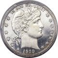 Proof Barber Quarters, 1910 25C PR66+ Cameo PCGS. CAC....