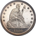 Proof Seated Quarters, 1880 25C PR67 PCGS. CAC....