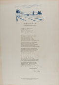 Miscellaneous:Broadside, [Broadside]. Elizabeth Bishop. SIGNED/LIMITED. North Haven: InMemoriam: Robert Lowell. Lord John Press, 1979. Bro...