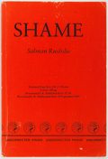 Books:First Editions, Salman Rushdie. Shame. London: Jonathon Cape, 1983.Uncorrected proof in original wrappers. Light shelf wear to ...