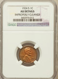 Lincoln Cents, 1924-S 1C -- Improperly Cleaned -- NGC Details. AU. NGC Census:(11/174). PCGS Population (47/252). Mintage: 11,696,000...