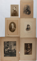 Photography:Studio Portraits, [Early Photography]. Group of six turn of the century portraits ca. 1903-1913. Light foxing and toning to matted boards. Cor...