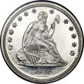 Proof Seated Quarters, 1865 25C PR66 Cameo NGC....