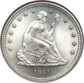 Seated Quarters, 1861 25C MS66 NGC....