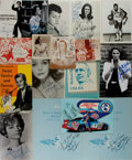 Photography:Signed, [Autographs]. Group of Seventeen. Autographed headshots or promotional materials. Includes signatures from Sammy Davis Jr,...