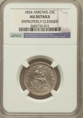 Seated Quarters, 1854 25C Arrows -- Improperly Cleaned -- NGC Details. AU. NGCCensus: (29/396). PCGS Population (49/371). Mintage: 12,380,0...