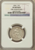 Seated Quarters, 1856 25C -- Obverse Scathed -- NGC Details. XF. NGC Census:(3/188). PCGS Population (27/218). Mintage: 7,264,000. Numismed...