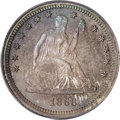 Proof Seated Quarters, 1866 25C Motto PR67 PCGS....