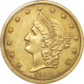 Territorial Gold, 1855 $20 Kellogg & Co.--Repaired--NCS. AU Details. ...