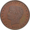 Patterns, 1880 $1 Goloid Metric Dollar, Judd-1655, Pollock-1855, R.7, PR65Red and Brown PCGS....