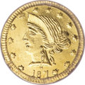 California Fractional Gold, 1871 25C Liberty Round 25 Cents, BG-865, R.5, MS64 PCGS....