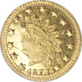 California Fractional Gold, 1874/3 50C Indian Round 50 Cents, BG-1052, High R.4, MS66 PCGS....