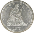 Seated Quarters, 1875 25C MS63 NGC. NGC Census: (38/104). PCGS Population (42/107).Mintage: 4,293,500. Numismedia Wsl. Price for NGC/PCGS c...