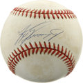 Autographs:Baseballs, Ken Griffey, Jr. Single Signed Baseball. Five-tool golden boy KenGriffey, Jr. brings us this fine example of his signature...