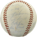 Autographs:Baseballs, 1962 Los Angeles Angels Team Signed Baseball. Twenty-seven membersof the Los Angeles Angels have applied their signatures ...