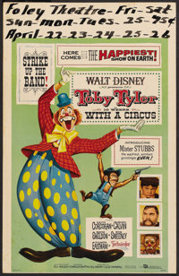 "Toby Tyler, or Ten Weeks with a Circus Lot (Buena Vista, 1960). Window Cards (3) (14"" X 22""). Drama. ... (Tota..."