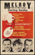 "Movie Posters:Academy Award Winner, The Apartment (United Artists, 1960). Window Card (14"" X 22"").Academy Award Winner. ..."