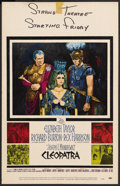"Movie Posters:Historical Drama, Cleopatra (20th Century Fox, 1963). Window Card (14"" X 22"").Historical Drama. ..."
