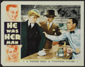 """Movie Posters:Crime, He Was Her Man (Warner Brothers, 1934). Lobby Card (11"""" X 14"""").Crime. ..."""