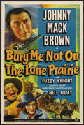 "Movie Posters:Western, Bury Me Not on the Lone Prairie (Universal, 1941). One Sheet (27"" X 41""). Western. ..."