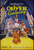 "Movie Posters:Animated, Oliver & Company (Buena Vista, 1988). One Sheet (27"" X 40"") DS.Animated. Starring the voices of Joey Lawrence, Billy Joel, ..."