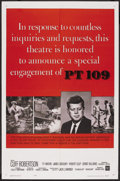 "Movie Posters:War, PT 109 (Warner Brothers, R-1964). One Sheet (27"" X 41""). War Drama...."