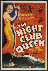 "The Night Club Queen (Olympic Pictures Inc, 1934). One Sheet (27"" X 41""). Mystery"