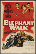 "Movie Posters:Adventure, Elephant Walk (Paramount, 1954). One Sheet (27"" X 41""). Adventure...."