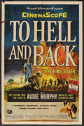 """Movie Posters:War, To Hell and Back (Universal, 1955). One Sheet (27"""" X 41""""). WarBiography. ..."""