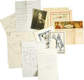 Movie/TV Memorabilia:Memorabilia, Marian Marsh Correspondence to Carl Laemmle Jr., Billie Burke,Desmond Carter, and Edgar Selwyn. This lot includes Christmas...(Total: 1 Item)
